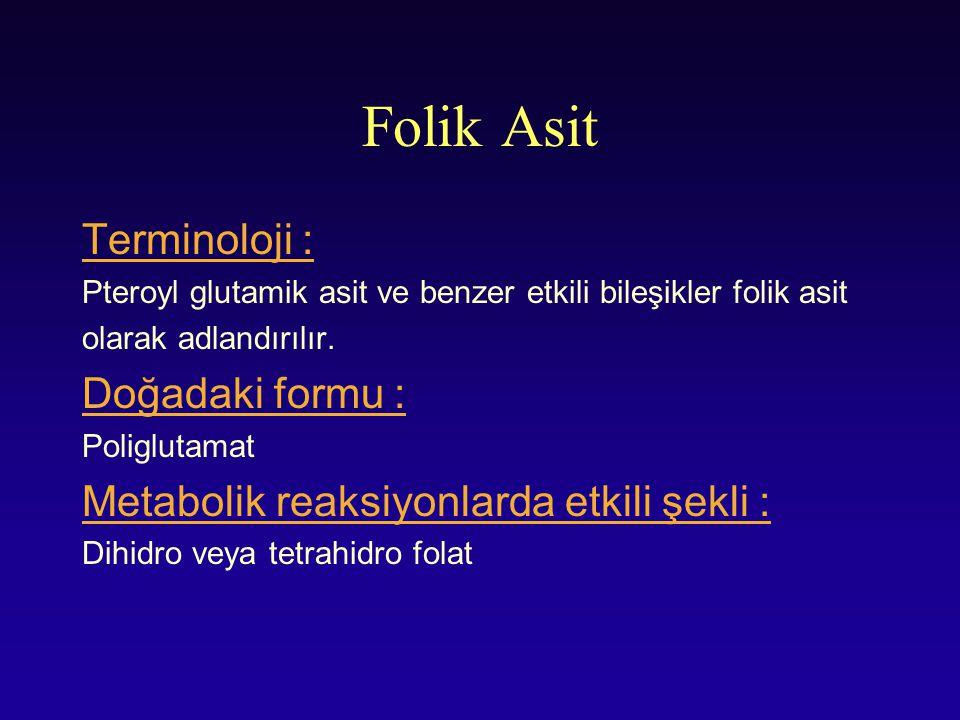 Folik Asit Terminoloji : Doğadaki formu :