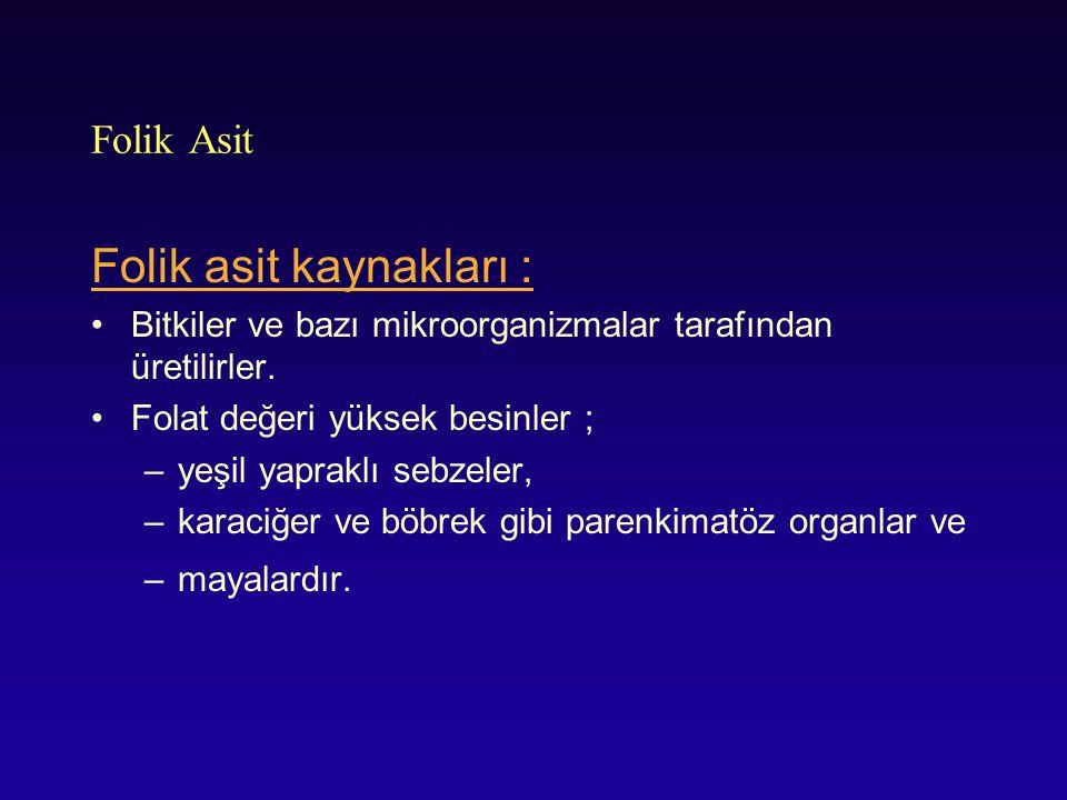 Folik asit kaynakları :