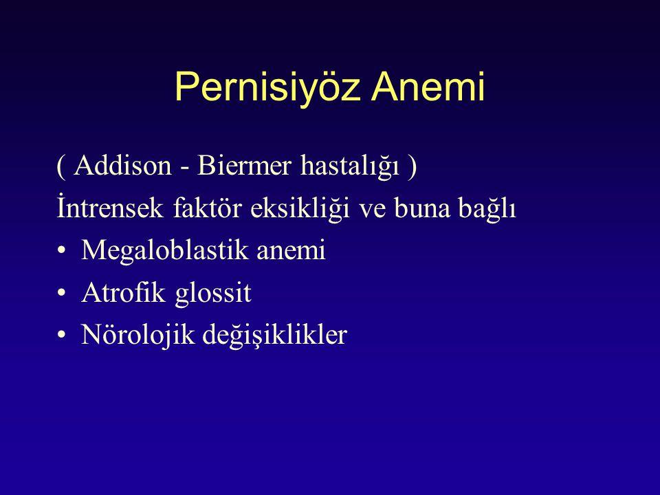 Pernisiyöz Anemi ( Addison - Biermer hastalığı )