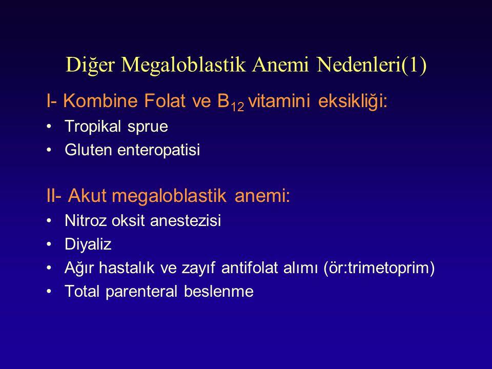 Diğer Megaloblastik Anemi Nedenleri(1)