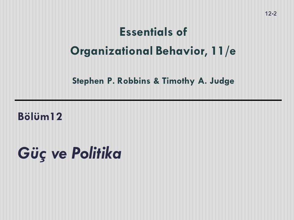 Stephen P. Robbins & Timothy A. Judge