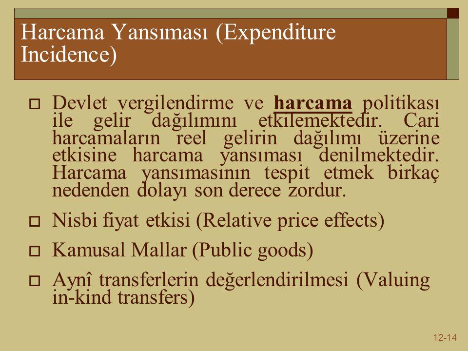 Harcama Yansıması (Expenditure Incidence)