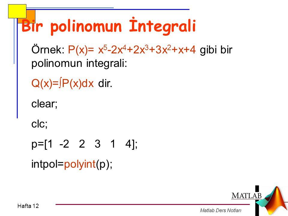 Bir polinomun İntegrali