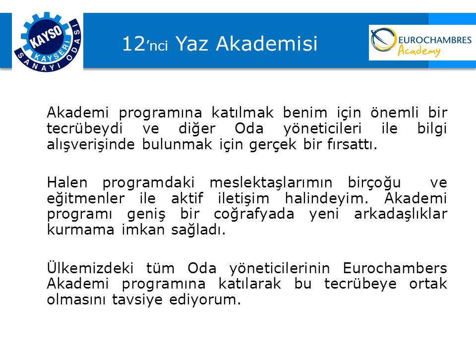 12'nci Yaz Akademisi