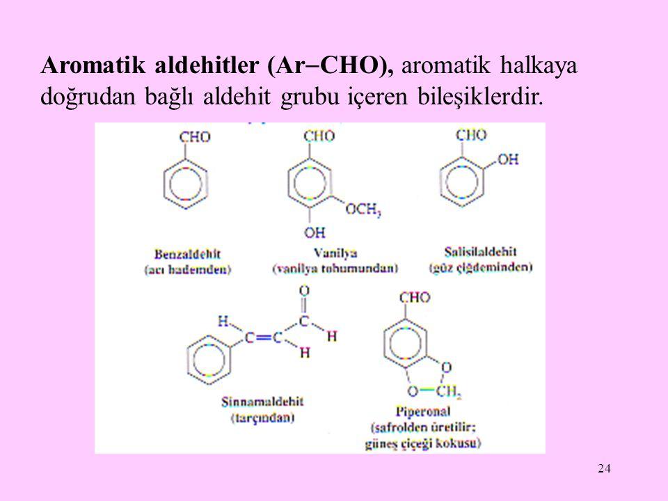 Aromatik aldehitler (ArCHO), aromatik halkaya doğrudan bağlı aldehit grubu içeren bileşiklerdir.