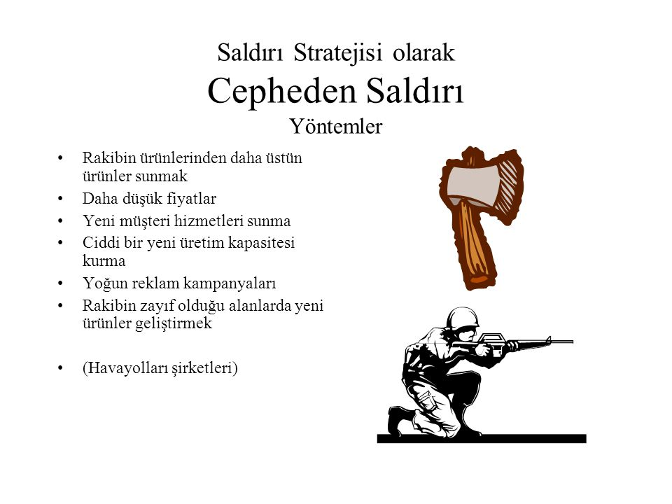 Saldırı Stratejisi olarak Cepheden Saldırı Yöntemler