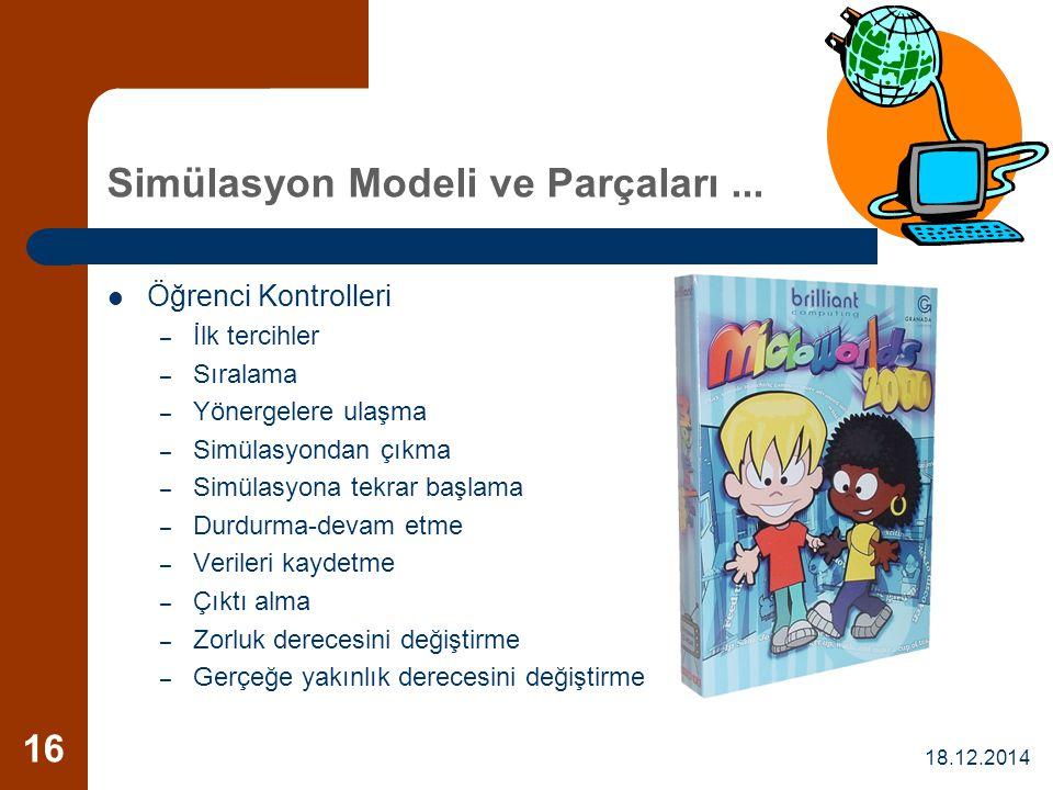 Simülasyon Modeli ve Parçaları ...
