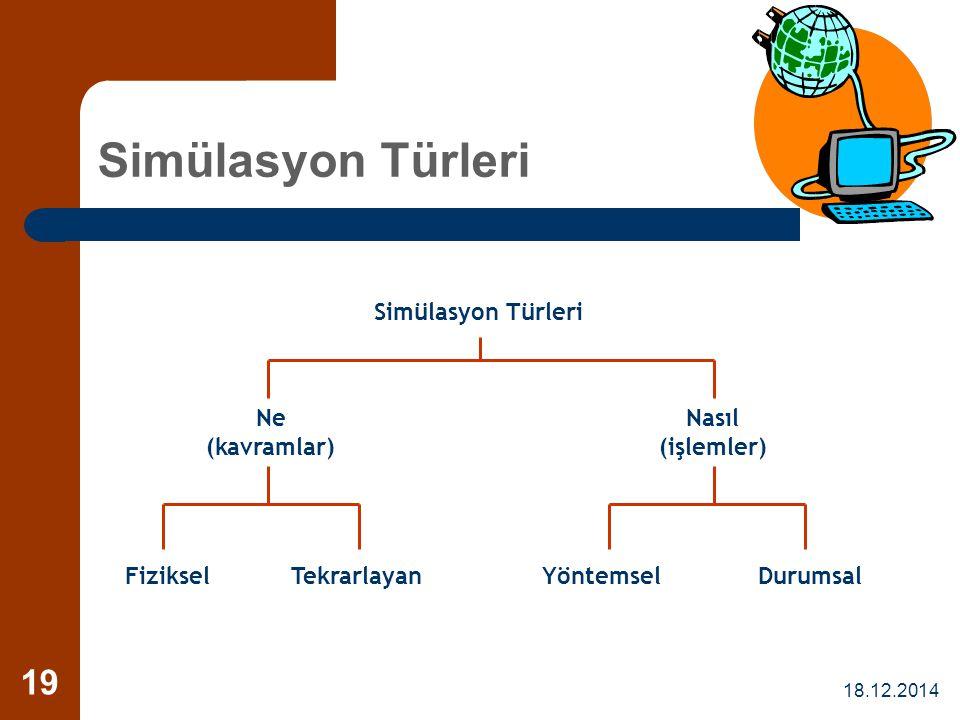 Simülasyon Türleri Simülasyon Türleri Ne (kavramlar) Nasıl (işlemler)