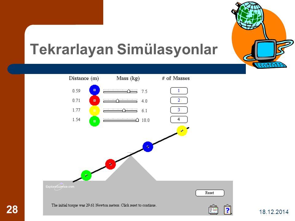 Tekrarlayan Simülasyonlar