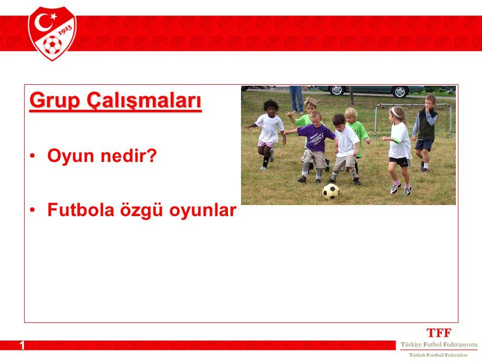 Grup Çalışmaları Oyun nedir Futbola özgü oyunlar Grup Çalışmaları