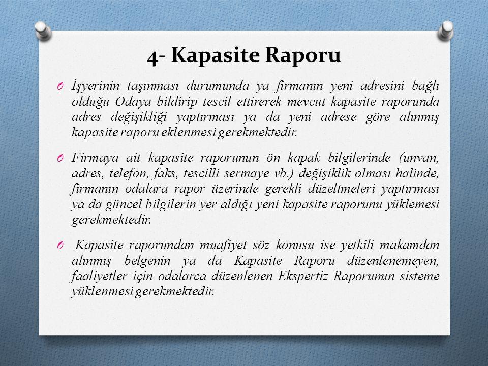 4- Kapasite Raporu