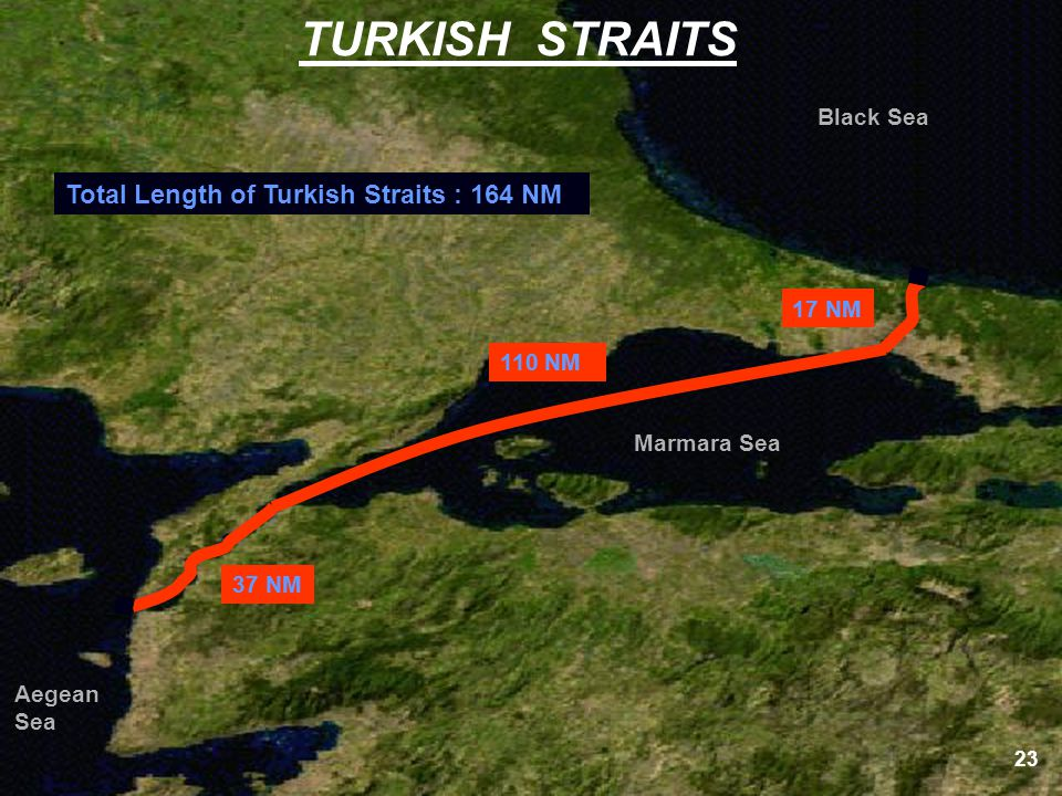 TURKISH STRAITS Total Length of Turkish Straits : 164 NM Black Sea