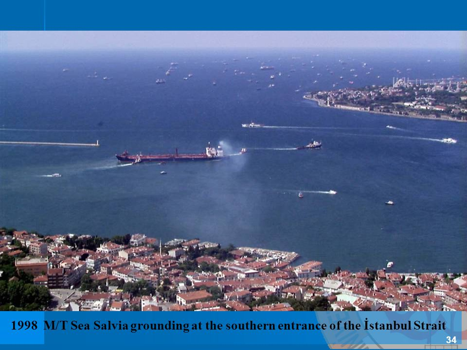 1998 M/T Sea Salvia grounding at the southern entrance of the İstanbul Strait