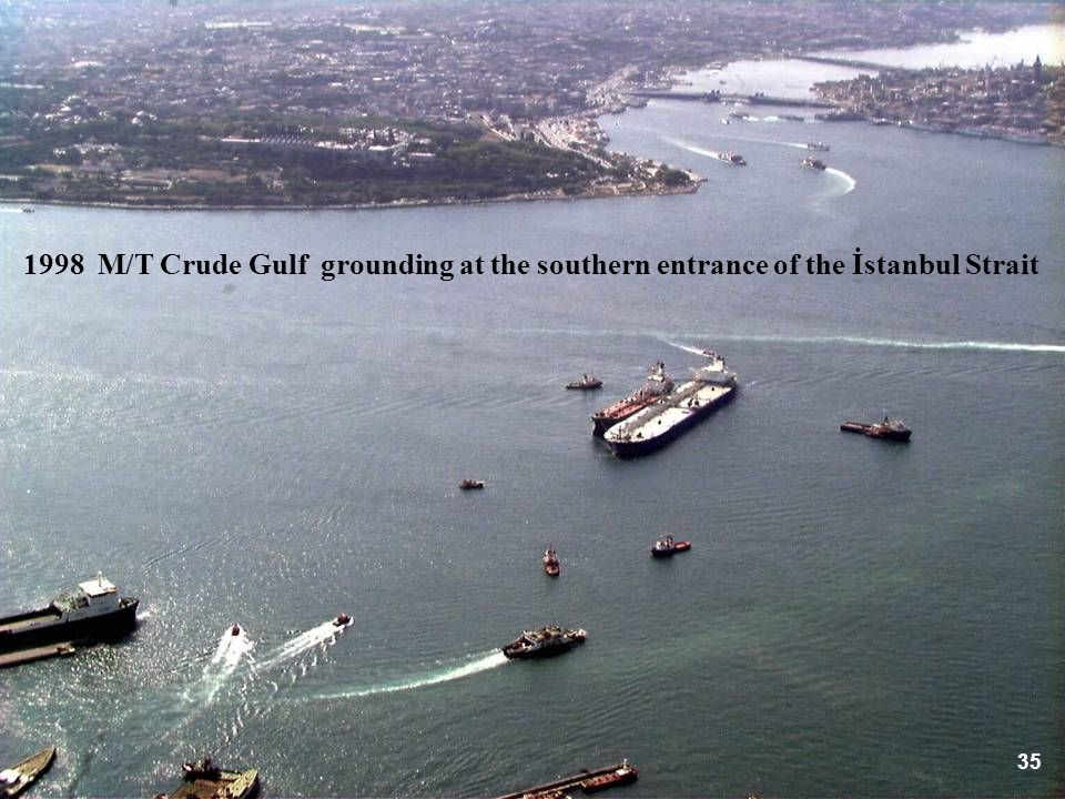 1998 M/T Crude Gulf grounding at the southern entrance of the İstanbul Strait