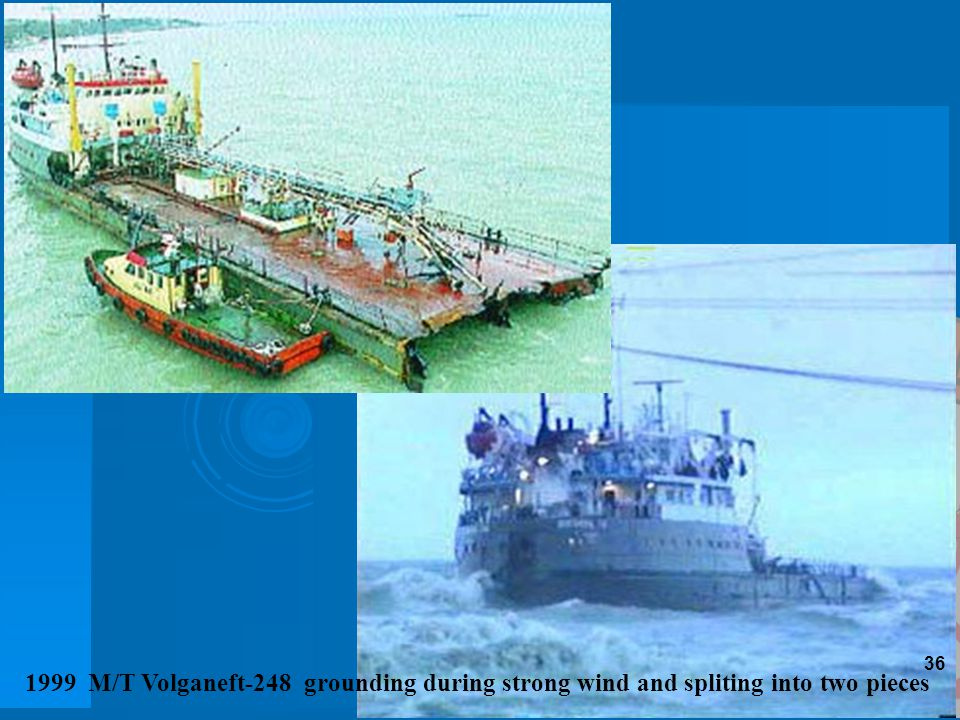36 1999 M/T Volganeft-248 grounding during strong wind and spliting into two pieces