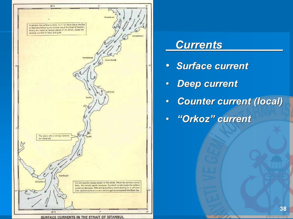 Currents Surface current Deep current Counter current (local)