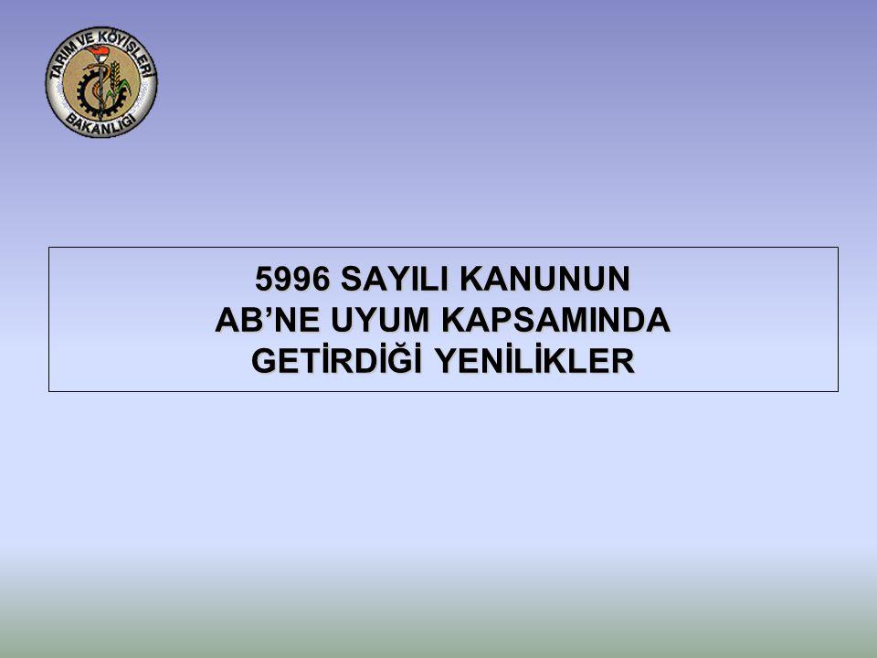 5996 SAYILI KANUNUN AB'NE UYUM KAPSAMINDA GETİRDİĞİ YENİLİKLER