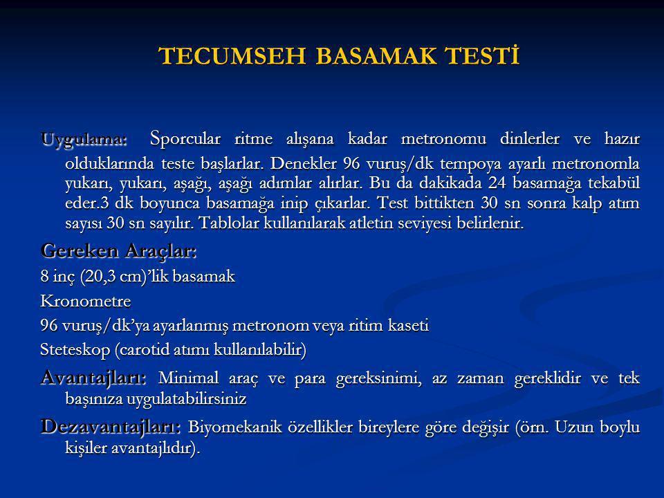 TECUMSEH BASAMAK TESTİ