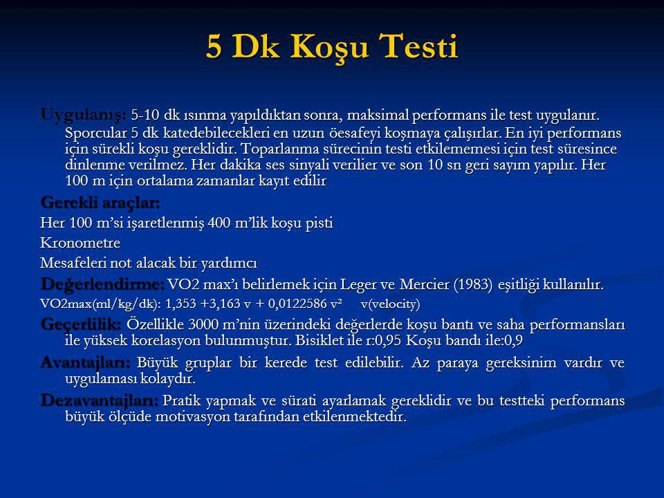 5 Dk Koşu Testi