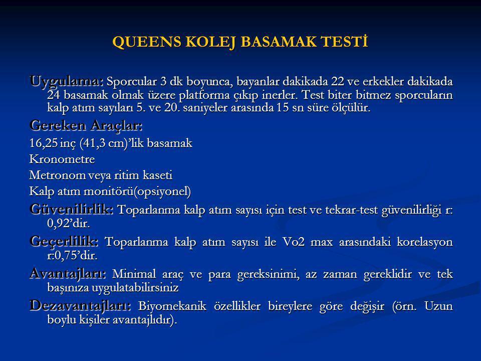 QUEENS KOLEJ BASAMAK TESTİ