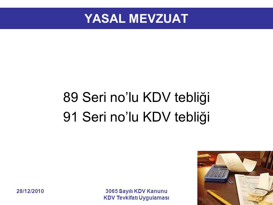 KDV Tevkifatı Uygulaması