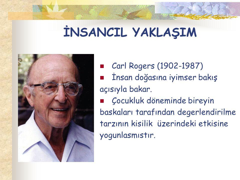 İNSANCIL YAKLAŞIM Carl Rogers (1902-1987) İnsan doğasına iyimser bakış