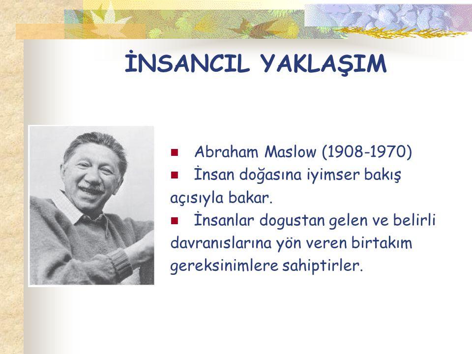İNSANCIL YAKLAŞIM Abraham Maslow (1908-1970)