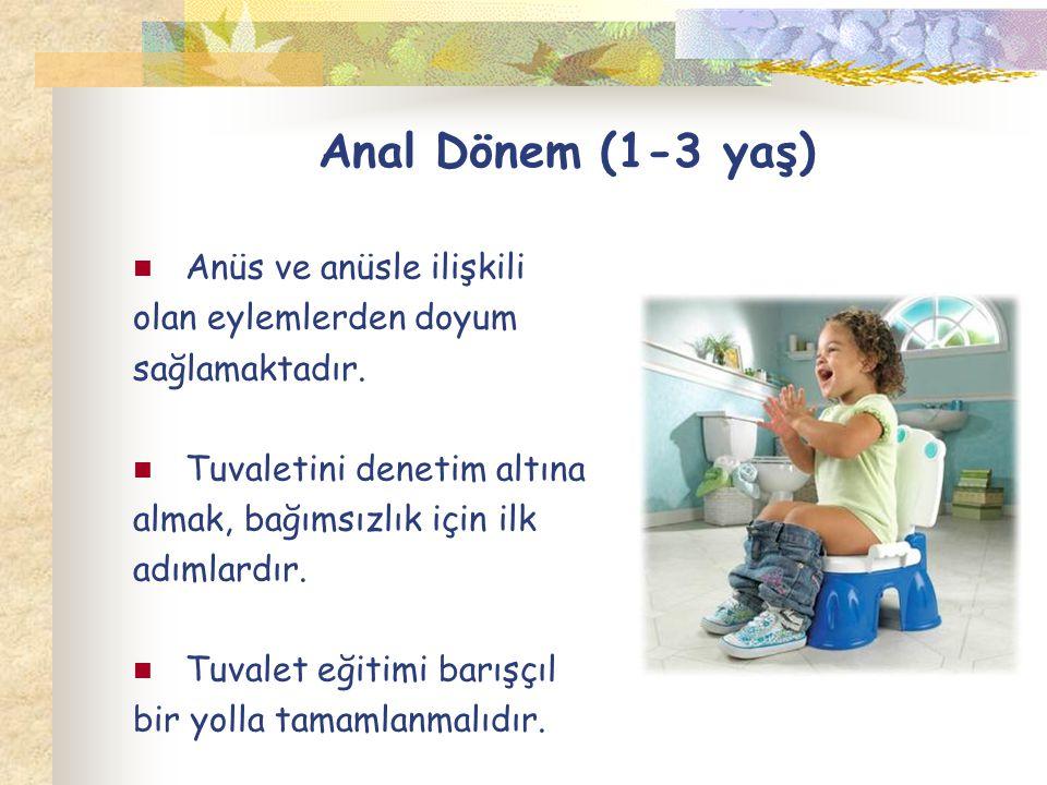 Anal Dönem (1-3 yaş) Anüs ve anüsle ilişkili olan eylemlerden doyum