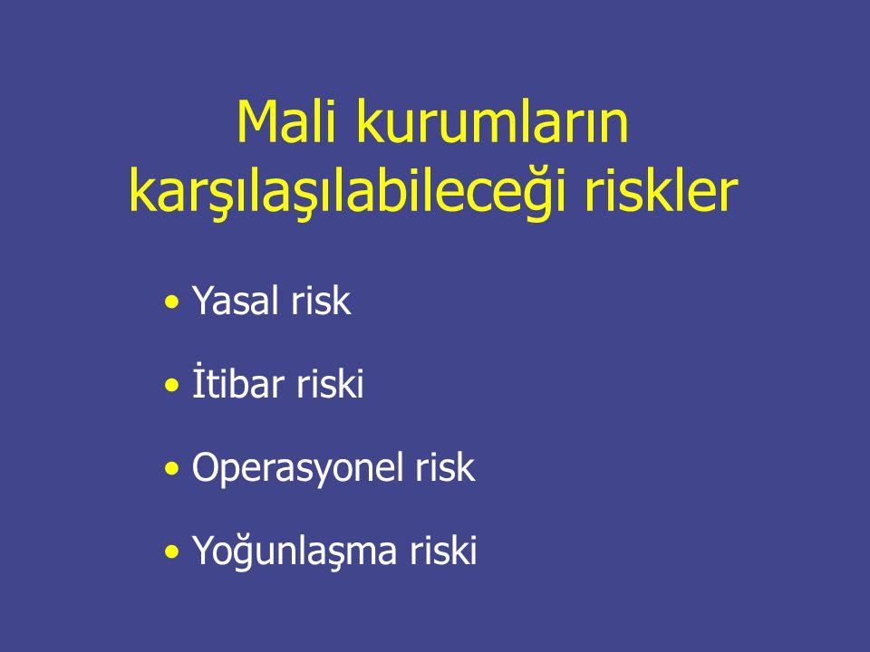 Mali kurumların karşılaşılabileceği riskler