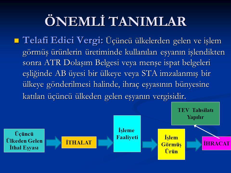 ÖNEMLİ TANIMLAR