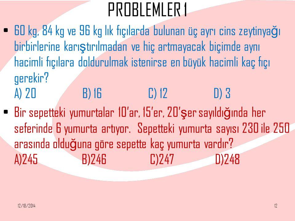 PROBLEMLER 1