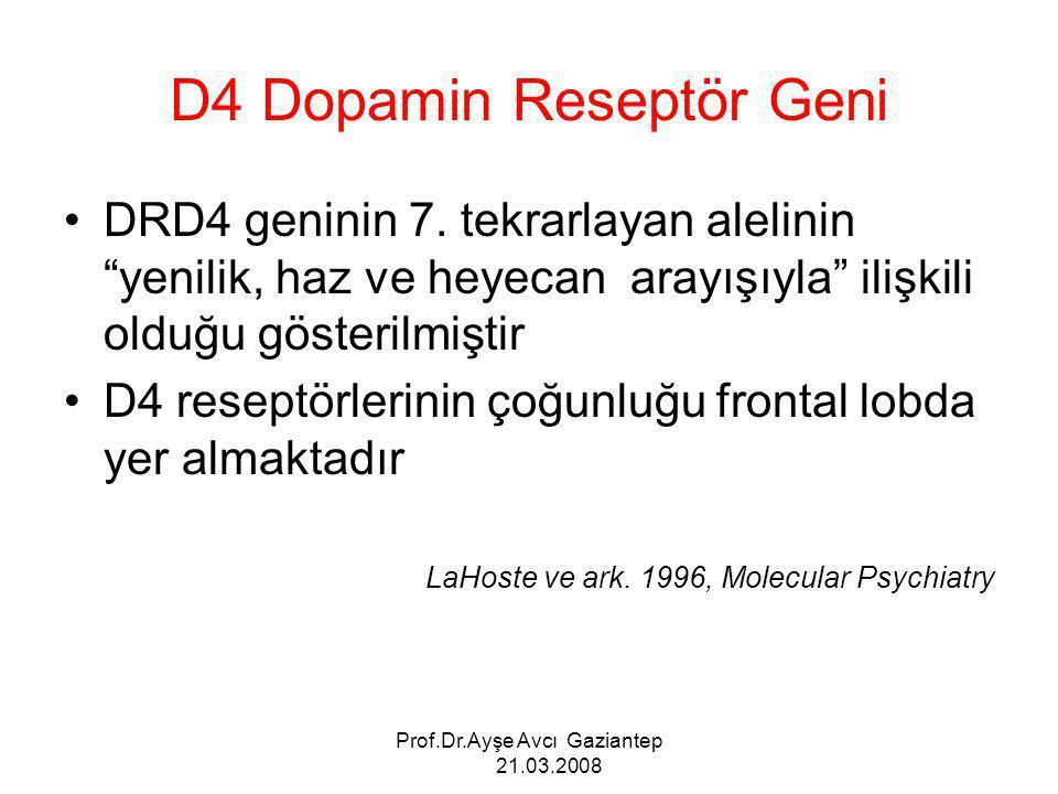 D4 Dopamin Reseptör Geni