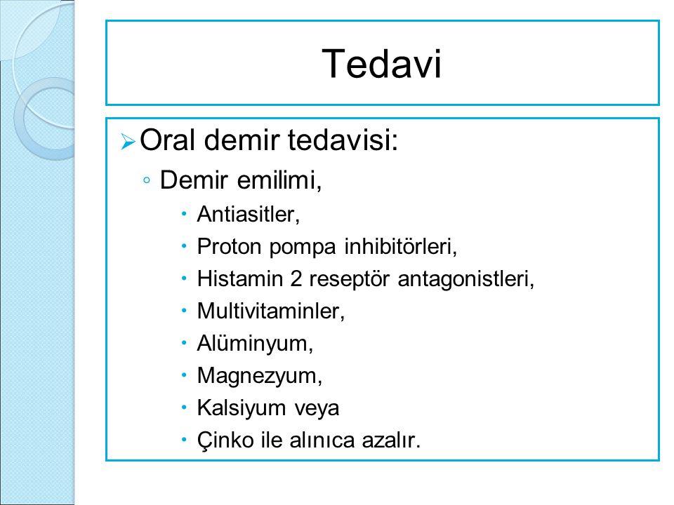 Tedavi Oral demir tedavisi: Demir emilimi, Antiasitler,
