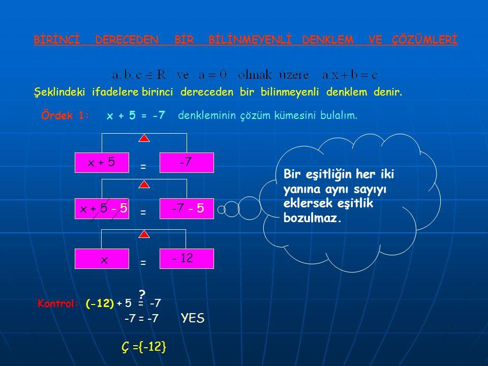Bir eşitliğin her iki yanına aynı sayıyı eklersek eşitlik bozulmaz.
