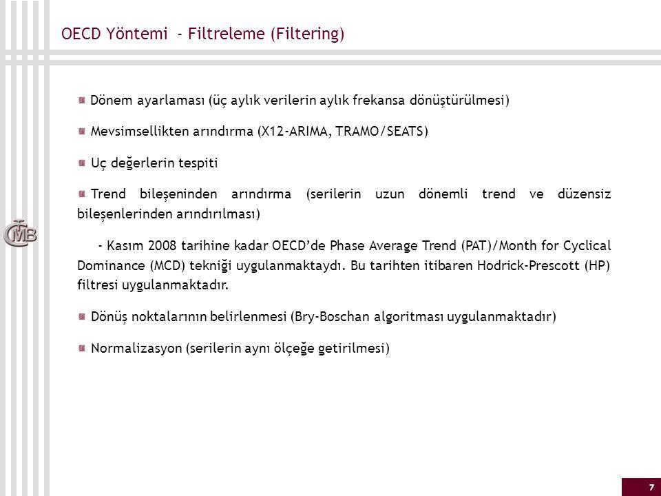 OECD Yöntemi - Filtreleme (Filtering)