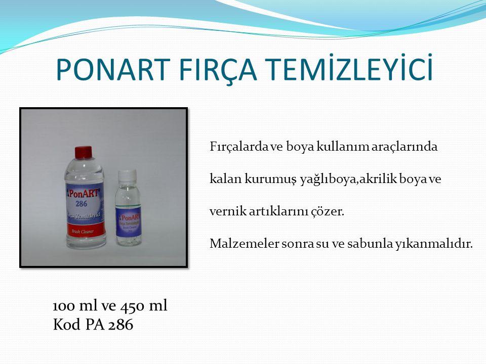 PONART FIRÇA TEMİZLEYİCİ