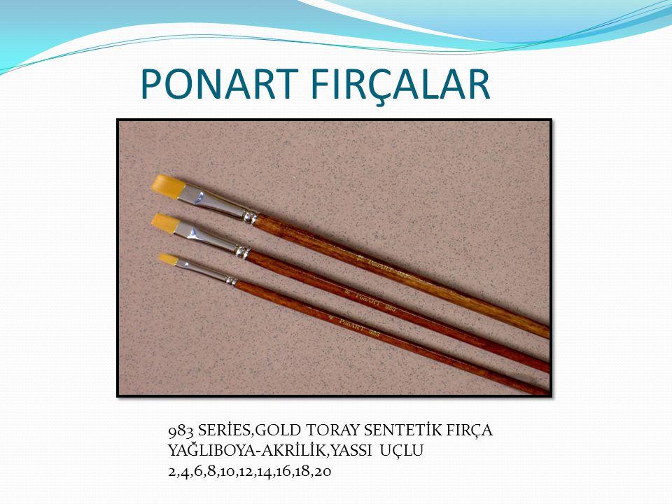 PONART FIRÇALAR 983 SERİES,GOLD TORAY SENTETİK FIRÇA