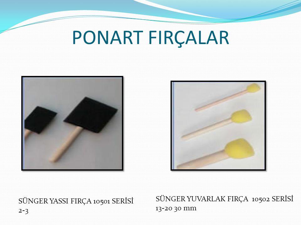 PONART FIRÇALAR SÜNGER YUVARLAK FIRÇA 10502 SERİSİ