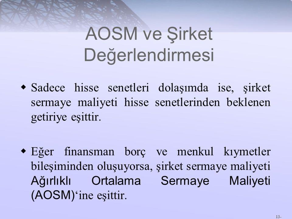 AOSM ve Şirket Değerlendirmesi