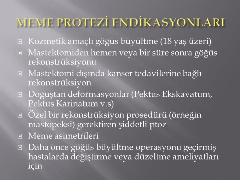 MEME PROTEZİ ENDİKASYONLARI