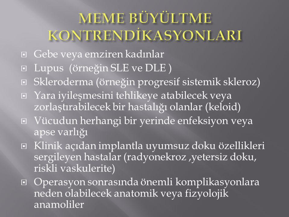 MEME BÜYÜLTME KONTRENDİKASYONLARI