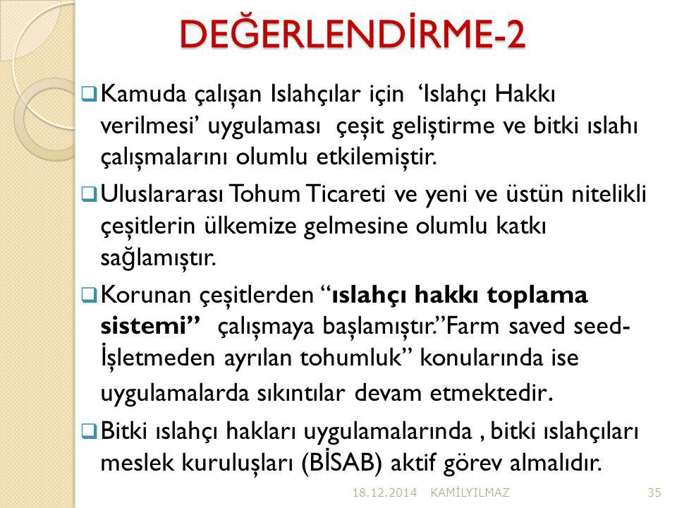 DEĞERLENDİRME-2