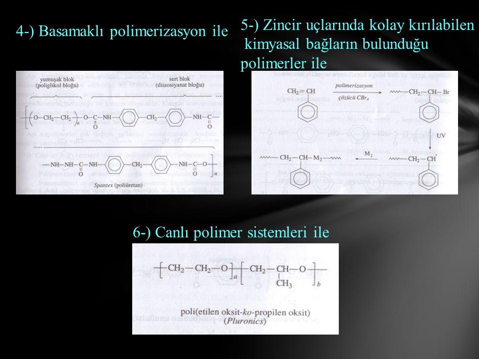 6-) Canlı polimer sistemleri ile