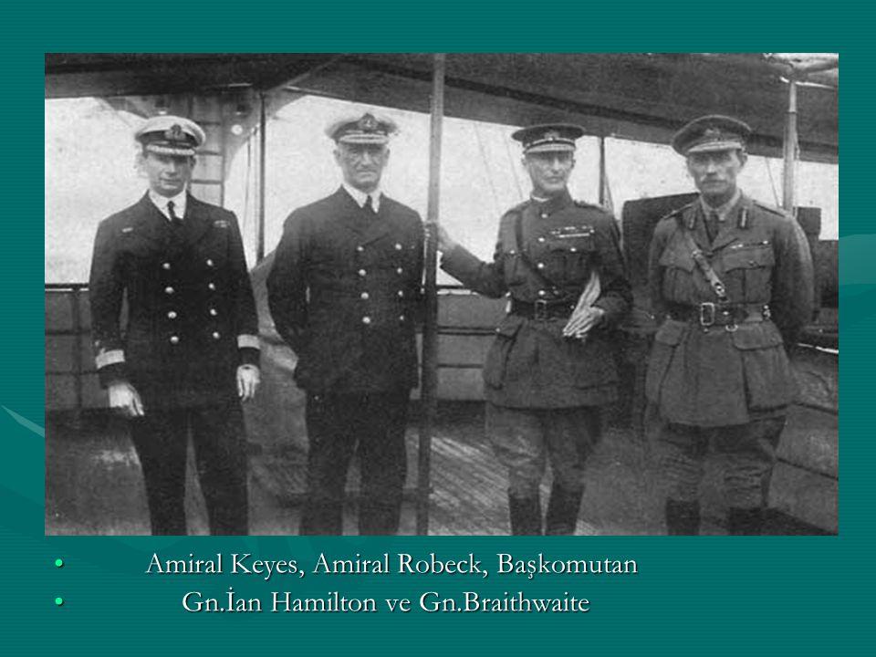Amiral Keyes, Amiral Robeck, Başkomutan