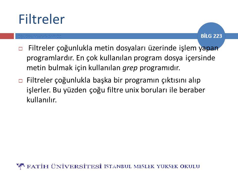 Filtreler