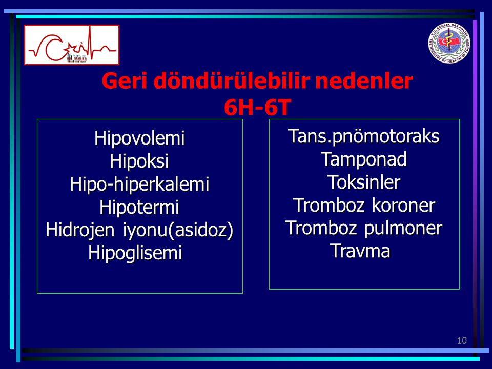 Geri döndürülebilir nedenler 6H-6T
