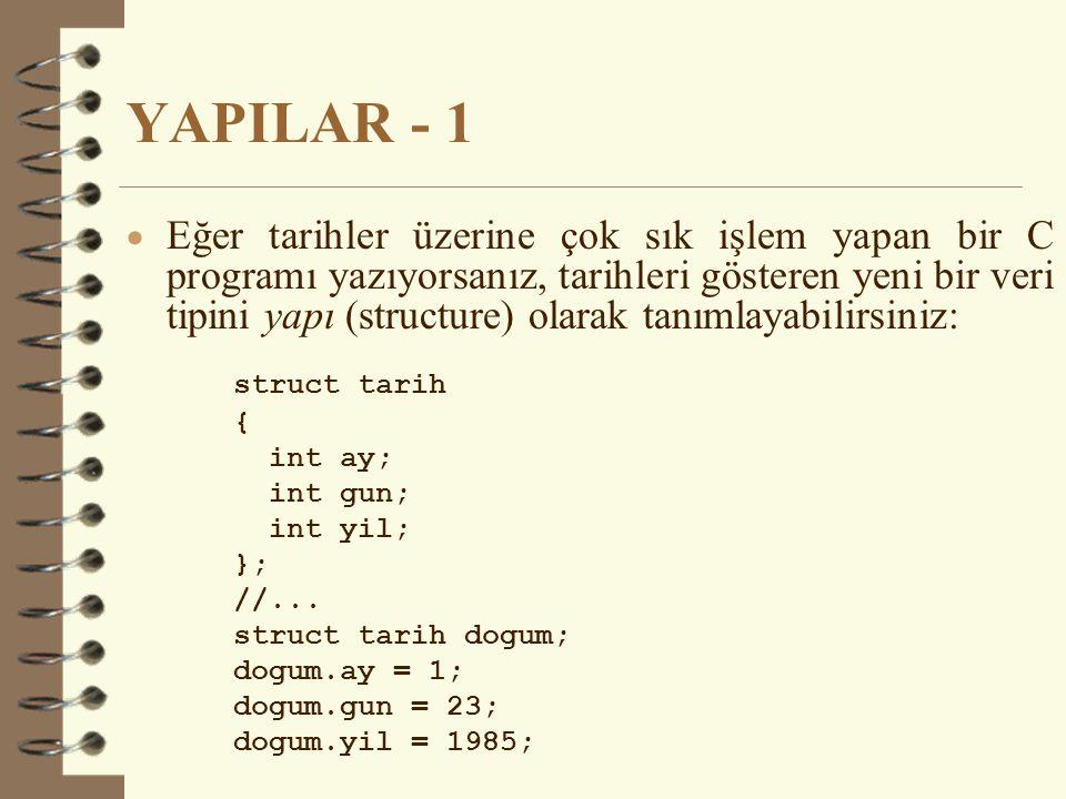 YAPILAR - 1