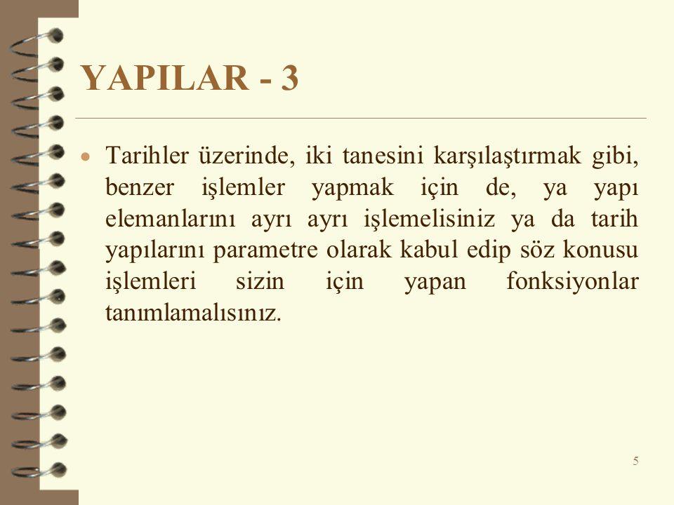 YAPILAR - 3