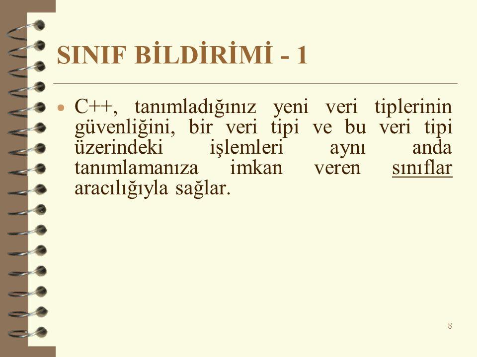 SINIF BİLDİRİMİ - 1