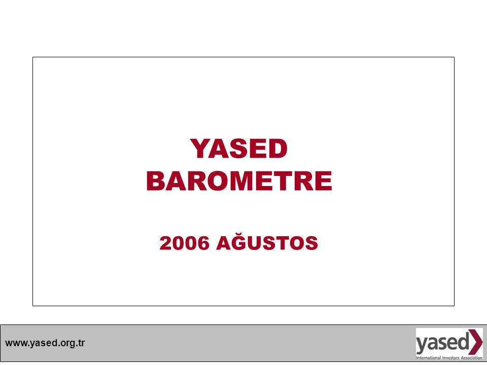 YASED BAROMETRE 2006 AĞUSTOS
